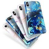 Marble Pattern Case Shockproof Hybrid Soft For iPhone - carolay.co phone case shop