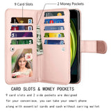 Leather Wallet Case Flip Magnetic Cover for iPhone - carolay.co phone case shop