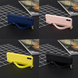 Cute Silicone Wrist Strap Protective Phone Case For iPhone - carolay.co phone case shop