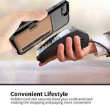 Leather Wallet Cards Holder Kickstand Shockproof Bumper Case For iPhone - carolay.co phone case shop