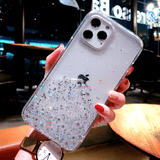 Shockproof Clear Case Bling Glitter Cover For iPhone - carolay.co - free shipping