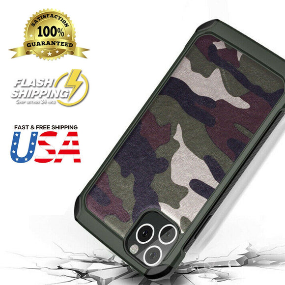 Armor Hybrid Rugged Camouflage Case For iPhone - carolay.co phone case shop