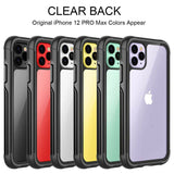 360 Full Crystal Clear Rugged Case For iPhone - carolay.co - free shipping