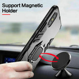 Hybrid Magnetic Stand Ring Holder Case For iPhone - carolay.co