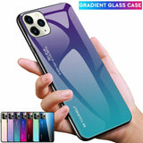 Luxury Tempered Glass Slim Hard Back Phone Case For iPhone - carolay.co phone case shop