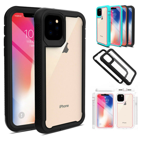 Rugged Armor Case Hybrid Clear Shockproof Cover For iPhone 11/pro/max - carolay.co phone case shop