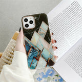 Slim Clear Marble Pattern Case For iPhone