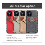 Flip Card Holder Wallet Phone Case For iPhone
