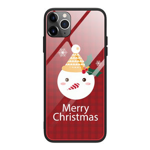 Christmas Case Silicone Glass Ultra Slim For iPhone
