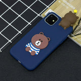 Cute 3D Cartoon Doll Soft Rubber Silicone Phone Case For iPhone - carolay.co phone case shop