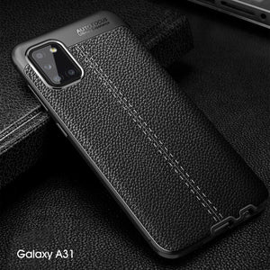 Luxury Shockproof Leather Rubber Case for Samsung S20