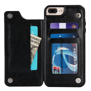 Fits Wallet Card Slot Case Leather Shockproof Magnetic For iPhone - carolay.co phone case shop