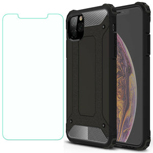 Shockproof Armor Protective Case+Tempered Glass For iPhone - carolay.co phone case shop