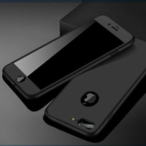 Max+Tempered Glass Ultra Slim Phone Case Full Body For iPhone - carolay.co phone case shop