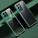 Soft Clear Plating Back Case For Samsung Galaxy series