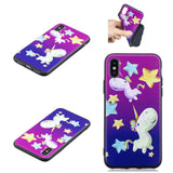 shockproof Silicone Painted Pattern Back Case For iPhone - carolay.co phone case shop