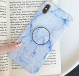 Marble Case With Holder Stand Quality For iPhone 8/Plus - carolay.co phone case shop