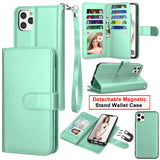 Flip Leather Wallet Case Card Holder Stand Cover For iPhone - carolay.co phone case shop