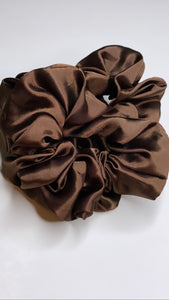 Chocolate Silk  Scrunchie