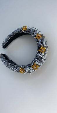 Flowered Pearl Gem Headband