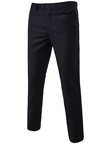 Men's Daily Going out Straight / Business Pants - Solid Colored Formal Style Spring Fall Light Blue Light gray Royal Blue XXXXL XXXXXL XXXXXXL