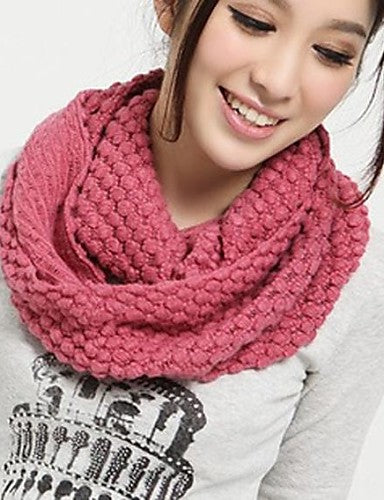 Women's Basic Infinity Scarf - Solid Colored / Winter