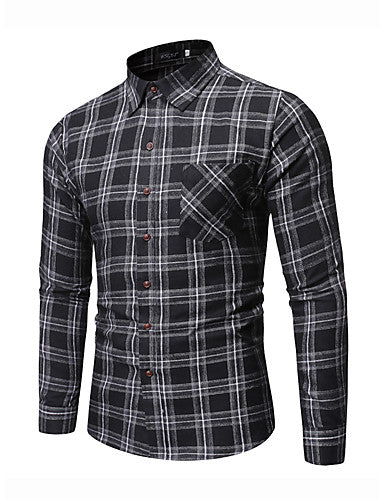 Men's Daily Work Shirt - Check Black