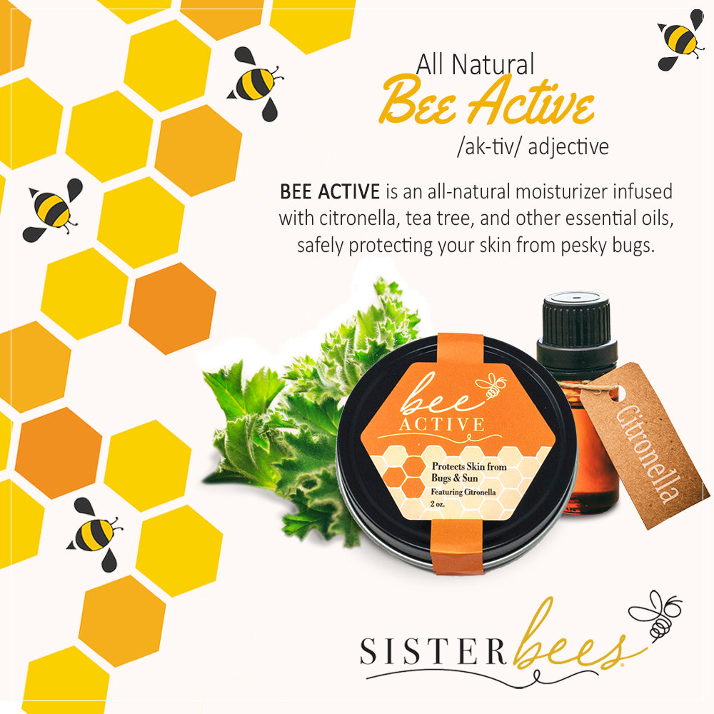 Bee Active (Protects Skin from Bugs!) - Sister Bees