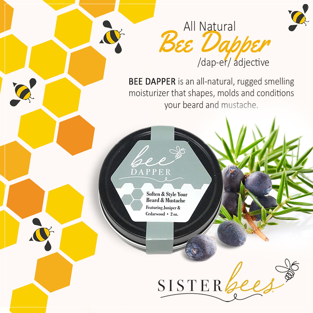 Bee Dapper - Soften & Style Your Beard & Mustache - Sister Bees