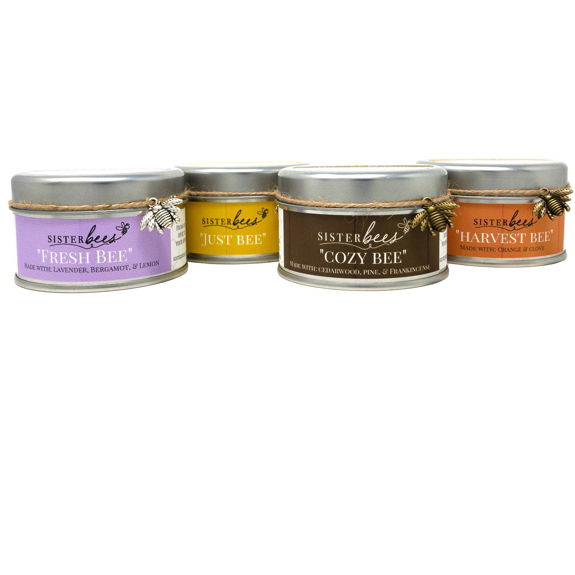 Beeswax Candle Variety 4 pack - Sister Bees