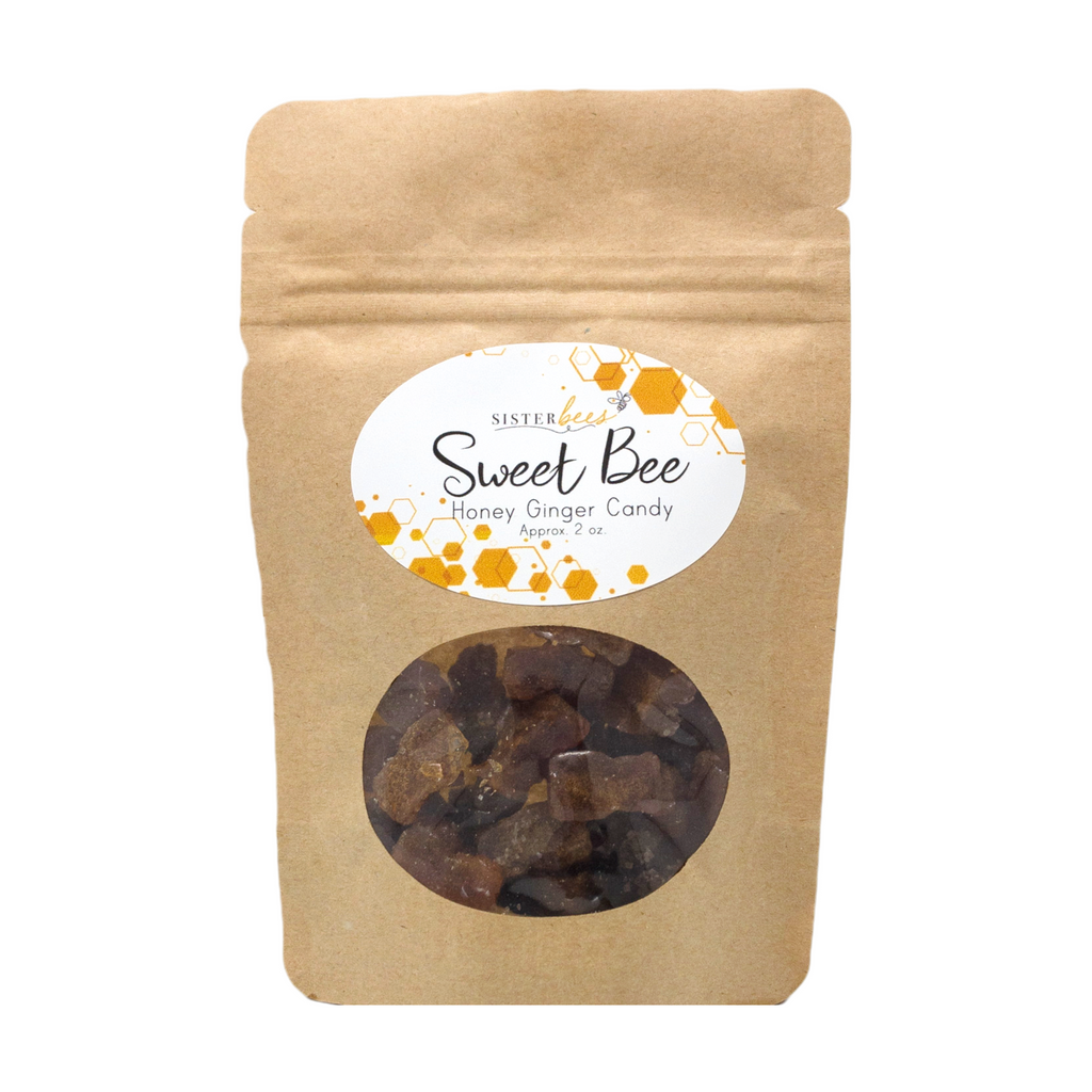 Sweet Bee Honey Ginger Candy 2oz bag - Sister Bees