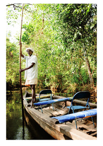 Boatman, Kerala Backwaters (42x59cm)