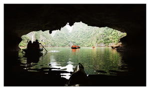 Canoeing in Ha Long Bay (59x37cm)