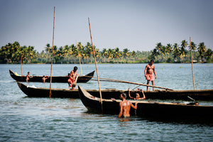 Mussels Pickers, Kerala Backwaters