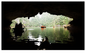 Canoeing in Ha Long Bay (119x73cm)
