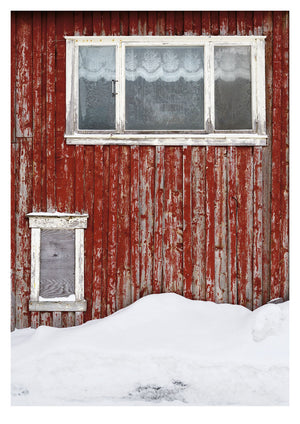 Red Wall in Mosjøen, Norway II (42x59cm)