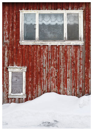 Red Wall in Mosjøen, Norway II (84x119cm)