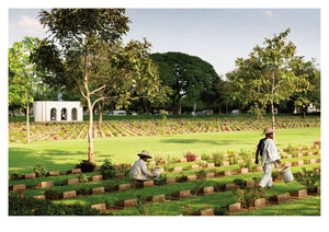 The Allied War Cemetery, Kanchanaburi (59x42cm)