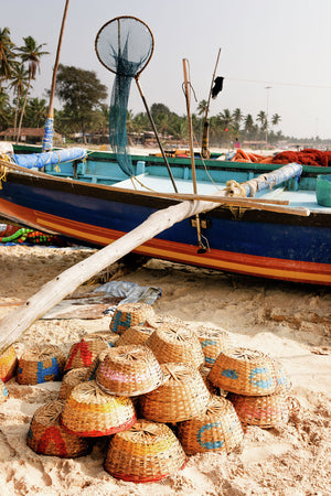 Fishing boat at Colva Beach, Goa