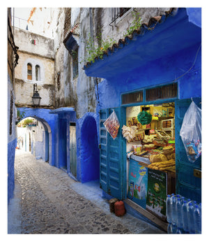 Local Shop In Chefchaouen (42x50cm)