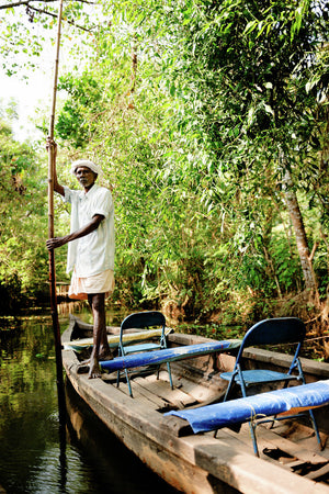 Boatman, Kerala Backwaters