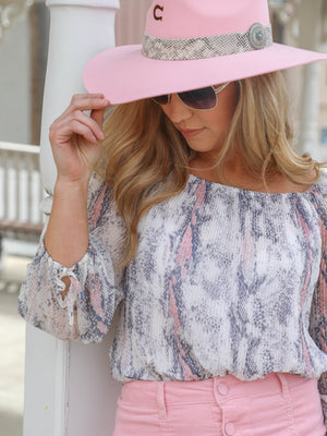 On and Off Shoulder Blouse - Allure Boutique WY