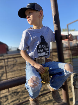 Can I Have Your Number Kids Tee - Allure Boutique WY
