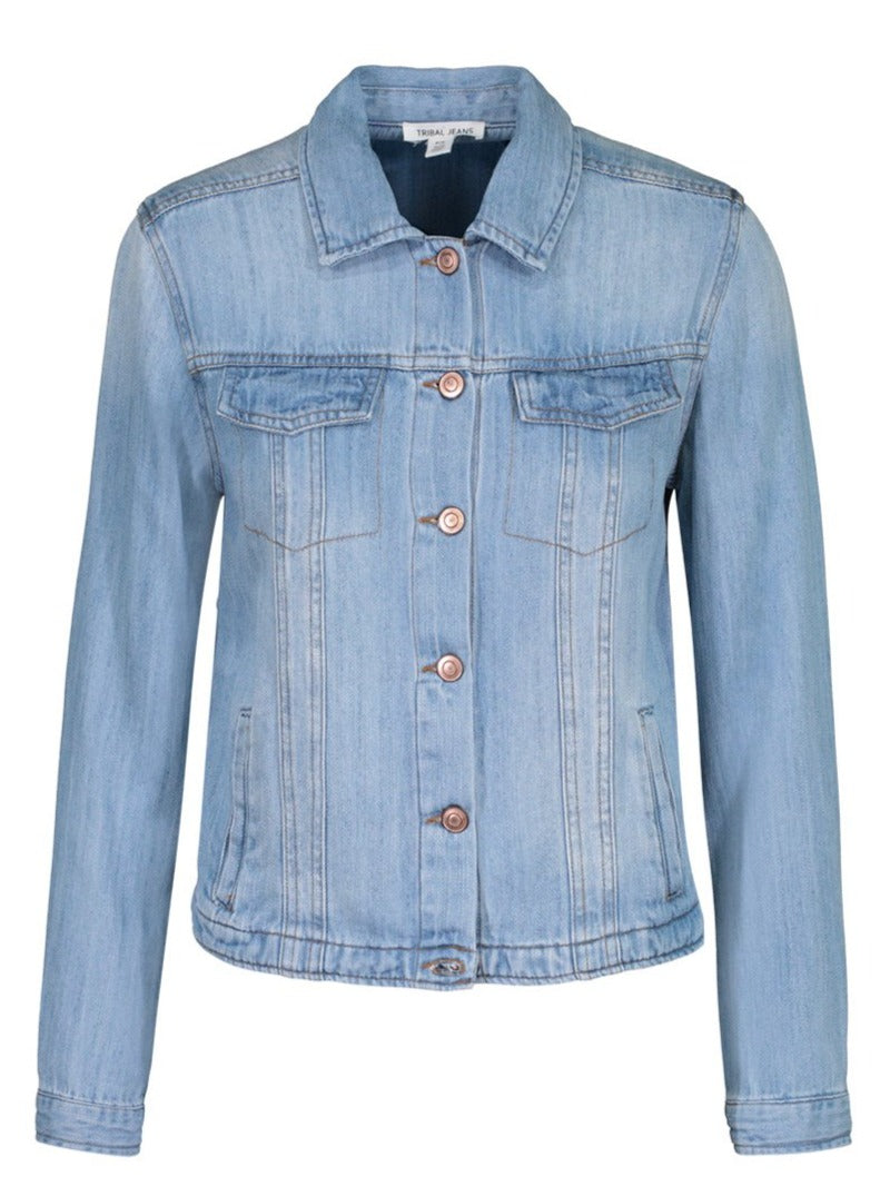 Chambray Jean Jacket - Allure Boutique WY