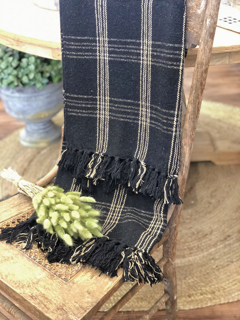 Cotton Blend Throw Black and Gold - Allure Boutique WY