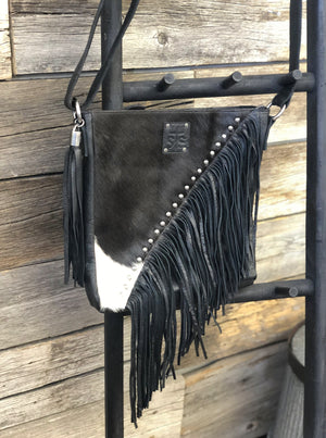Cowhide Teton Crossbody Black - Allure Boutique WY