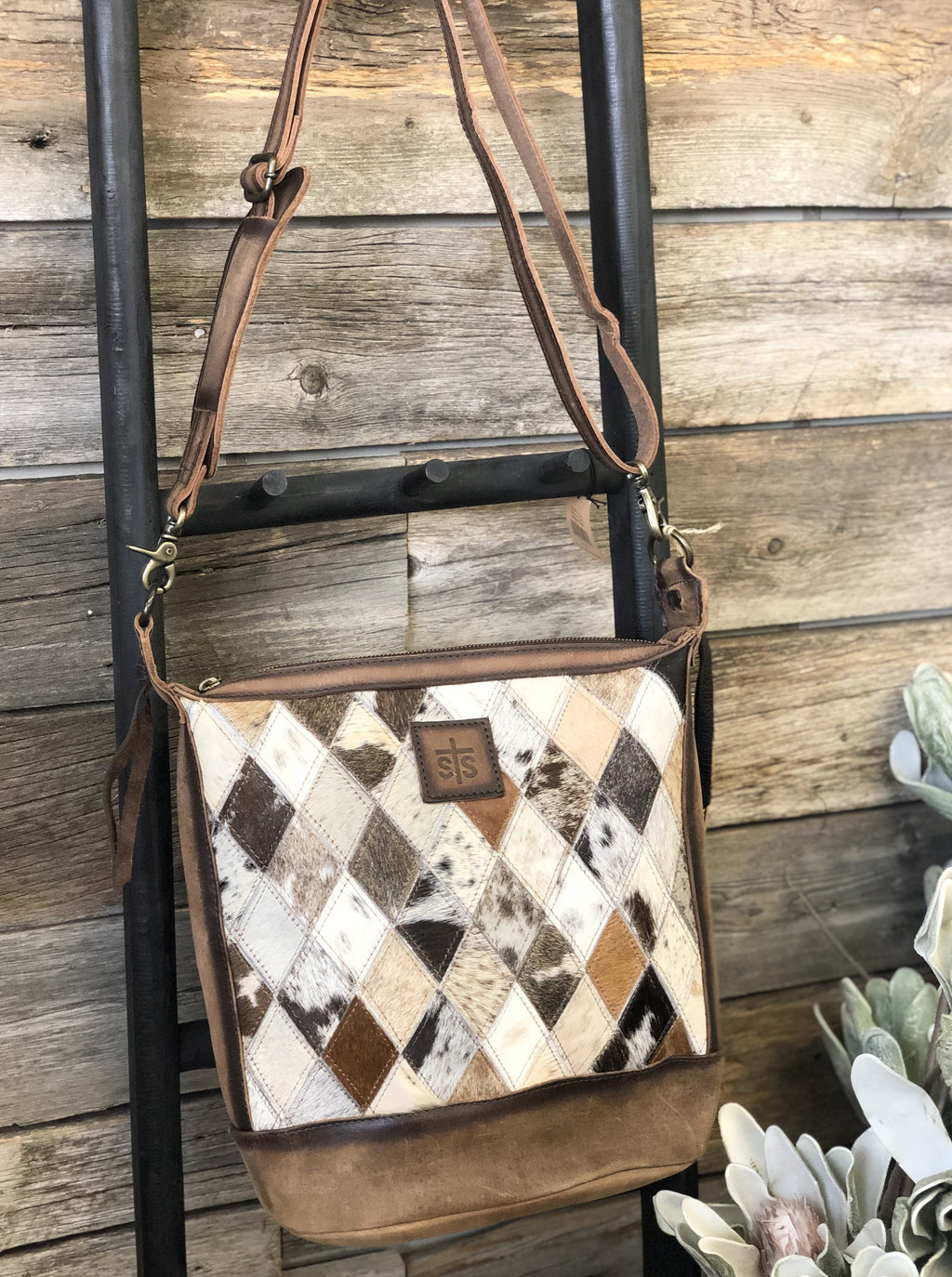 Diamond Cowhide Mail Bag - Allure Boutique WY