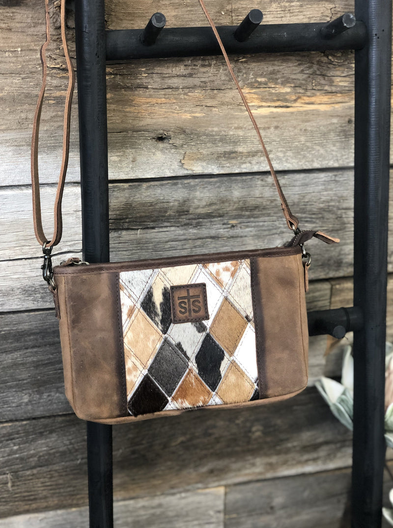Diamond Cowhide Simple Crossbody - Allure Boutique WY