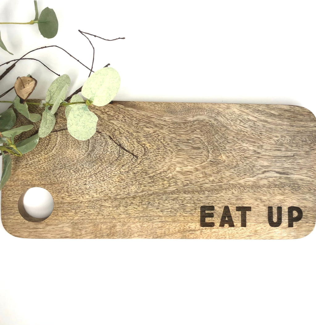 Eat Up Mango Wood Cutting Board - Allure Boutique WY