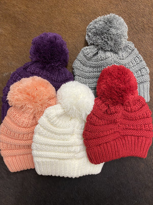 CC Kids Knit Pom Beanie - Allure Boutique WY